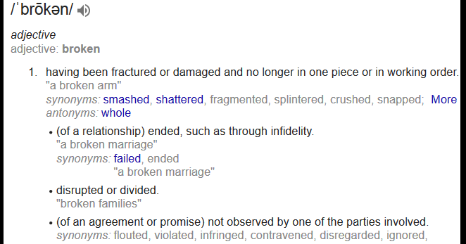 broken2bdefinition